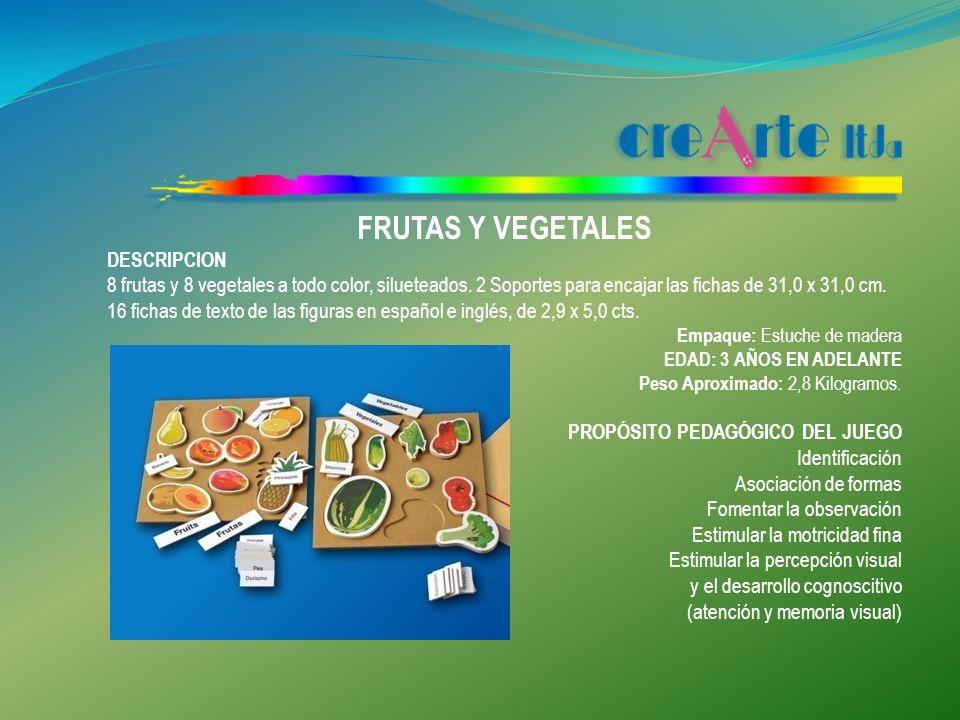 FRUTAS Y VEGETALES DESCRIPCION