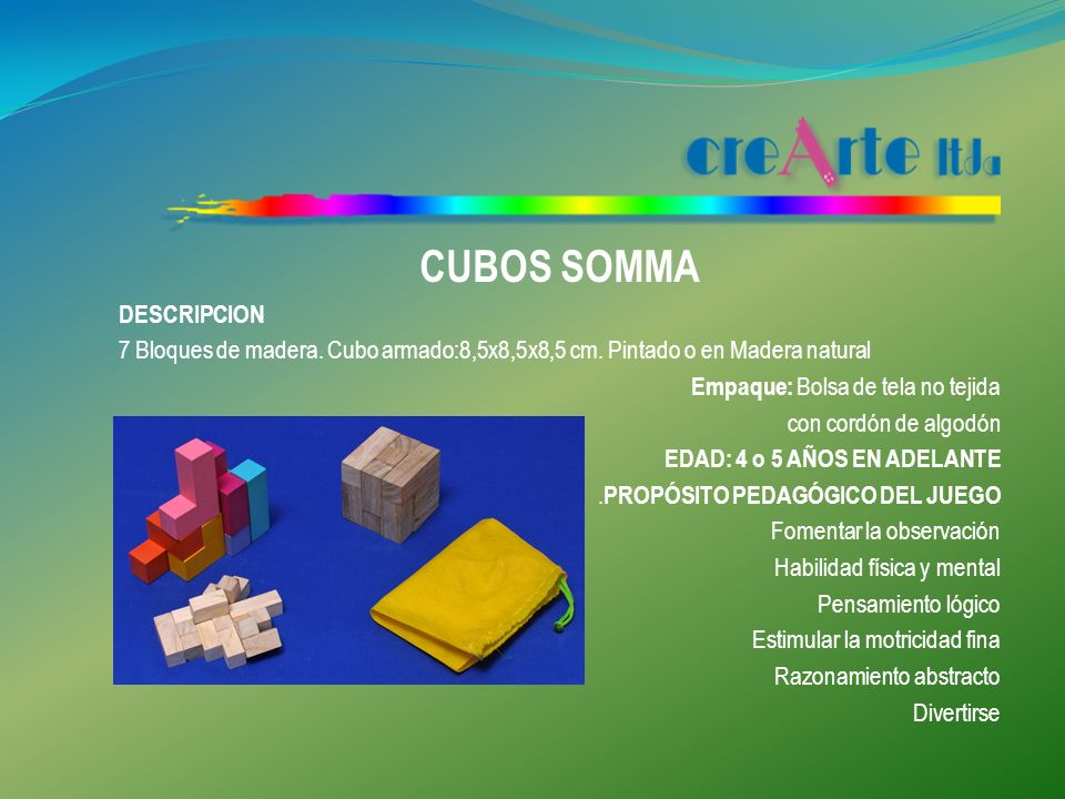CUBOS SOMMA DESCRIPCION