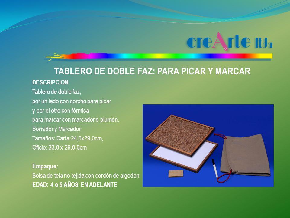 TABLERO DE DOBLE FAZ: PARA PICAR Y MARCAR