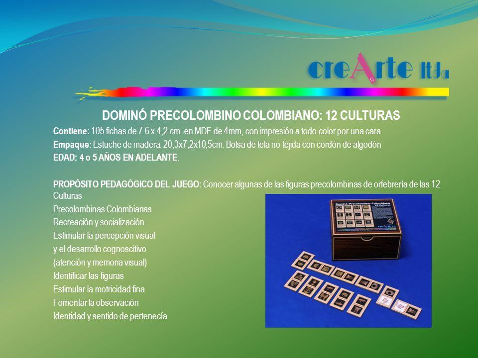DOMINÓ PRECOLOMBINO COLOMBIANO: 12 CULTURAS