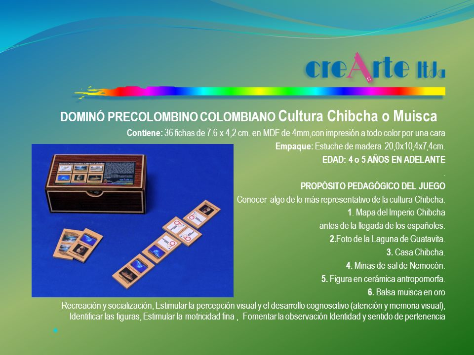 DOMINÓ PRECOLOMBINO COLOMBIANO Cultura Chibcha o Muisca