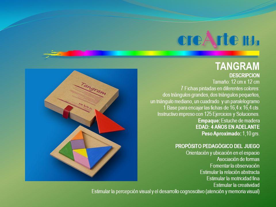 TANGRAM DESCRIPCION Tamaño: 12 cm x 12 cm