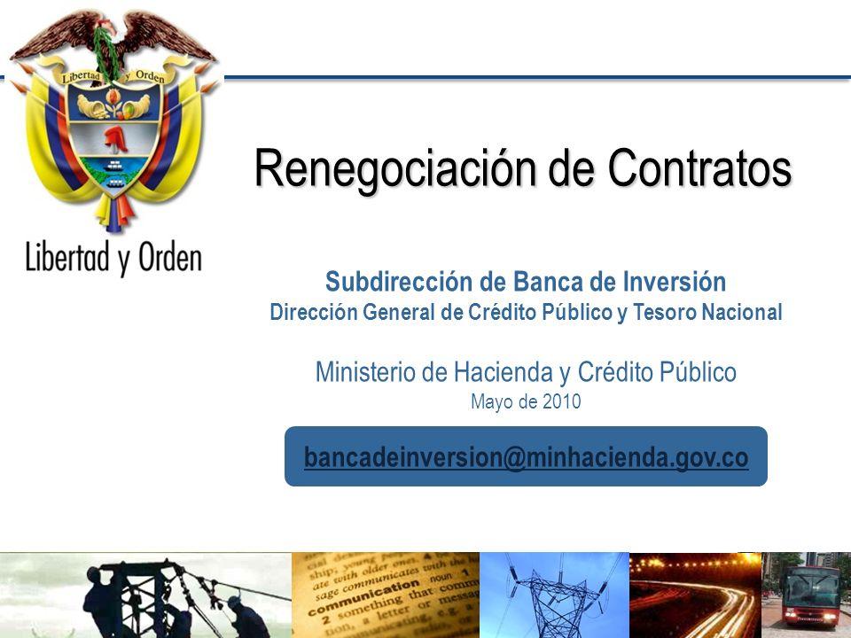 Renegociación de Contratos