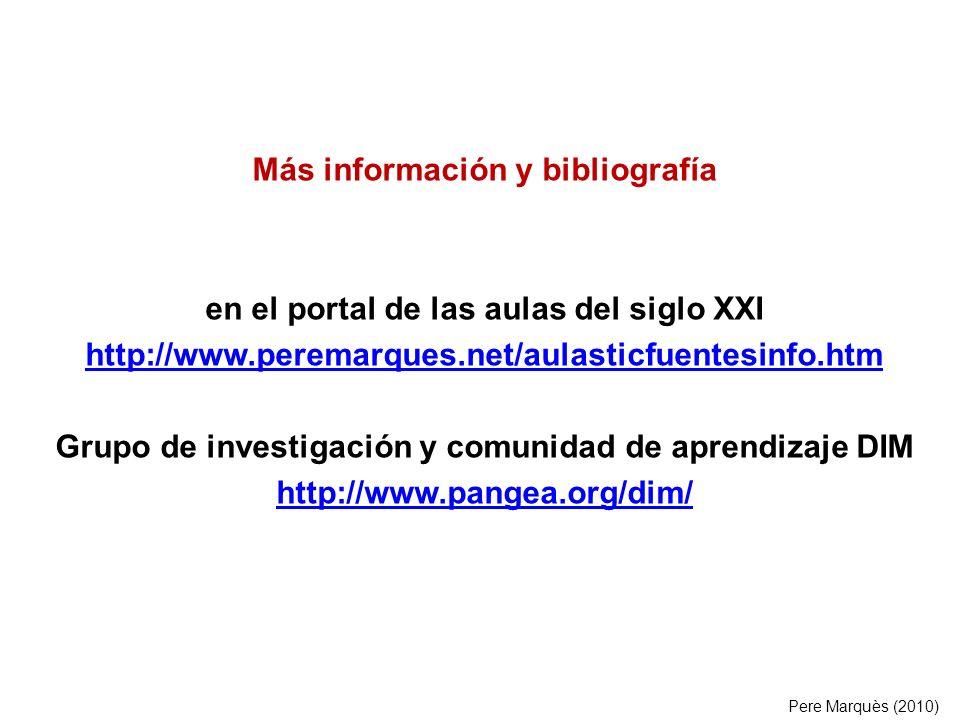 Más información y bibliografía