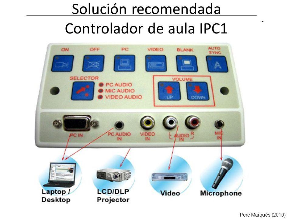 Solución recomendada Controlador de aula IPC1