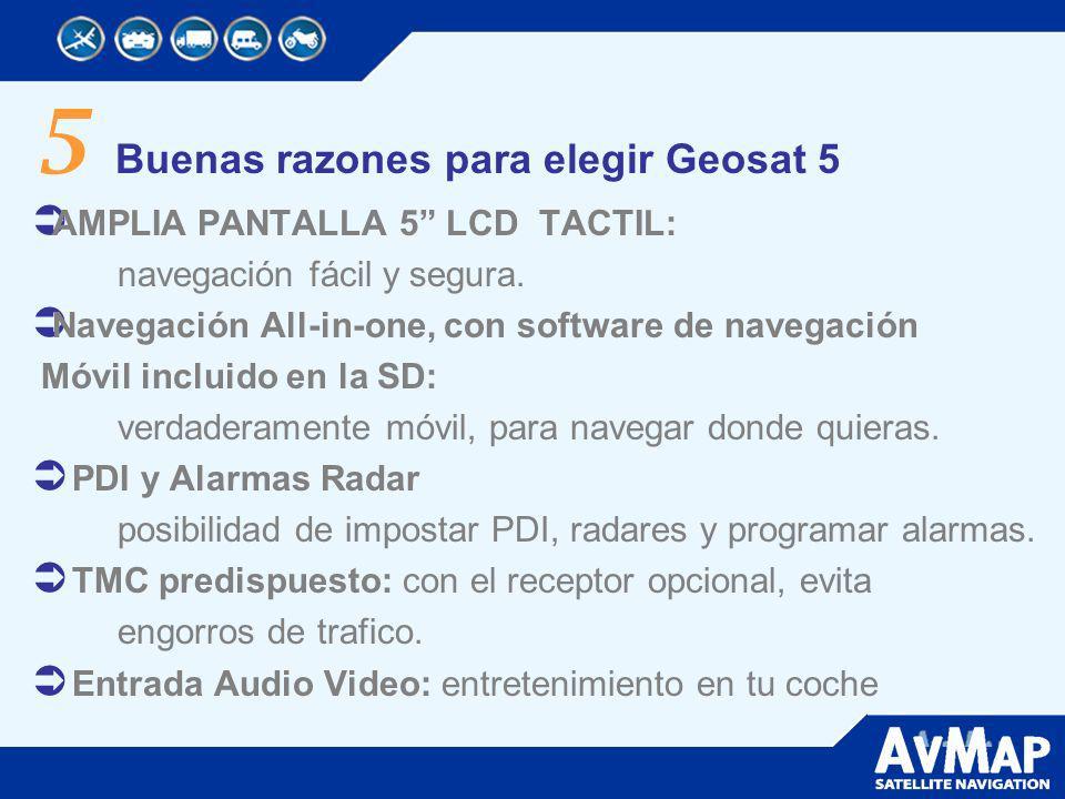 5 Buenas razones para elegir Geosat 5