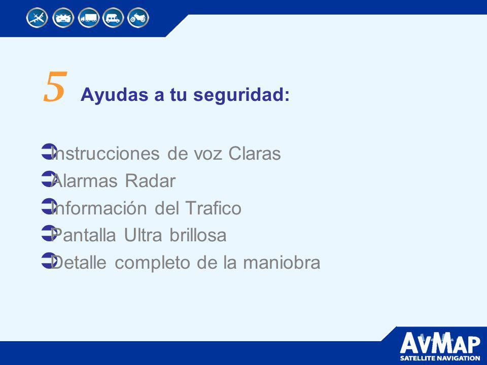 5 Ayudas a tu seguridad: Instrucciones de voz Claras Alarmas Radar