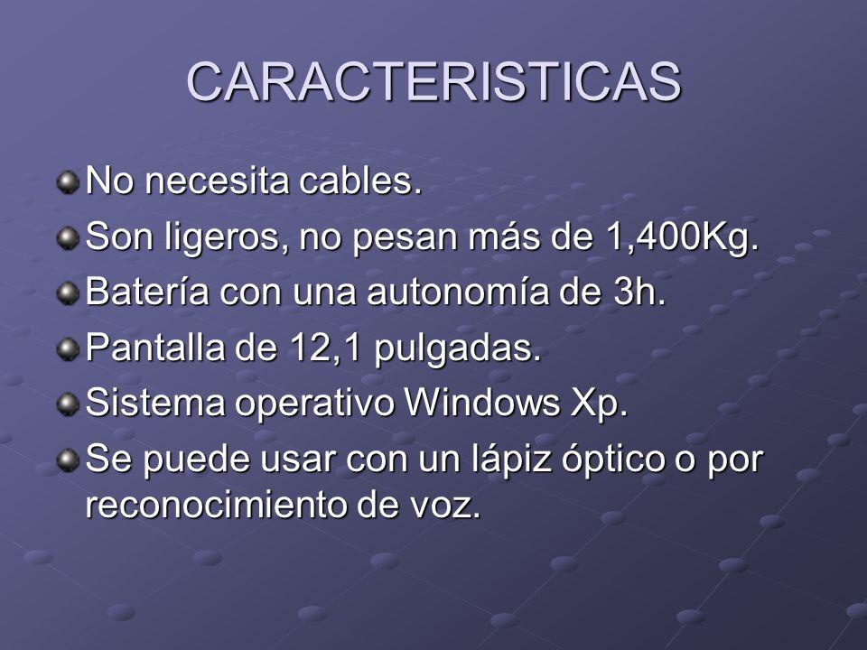 CARACTERISTICAS No necesita cables.
