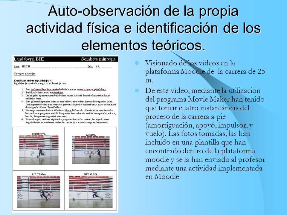 Auto-observación de la propia actividad física e identificación de los elementos teóricos.