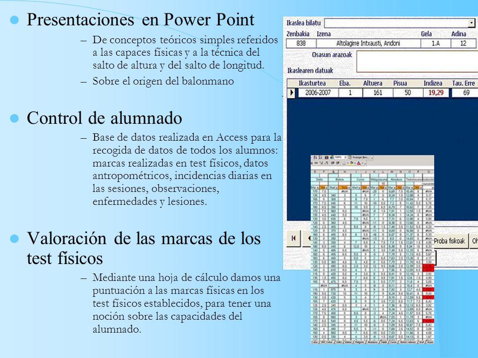 Presentaciones en Power Point