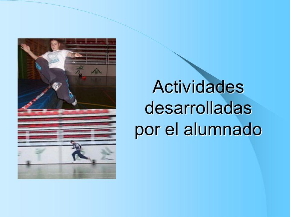 Actividades desarrolladas por el alumnado