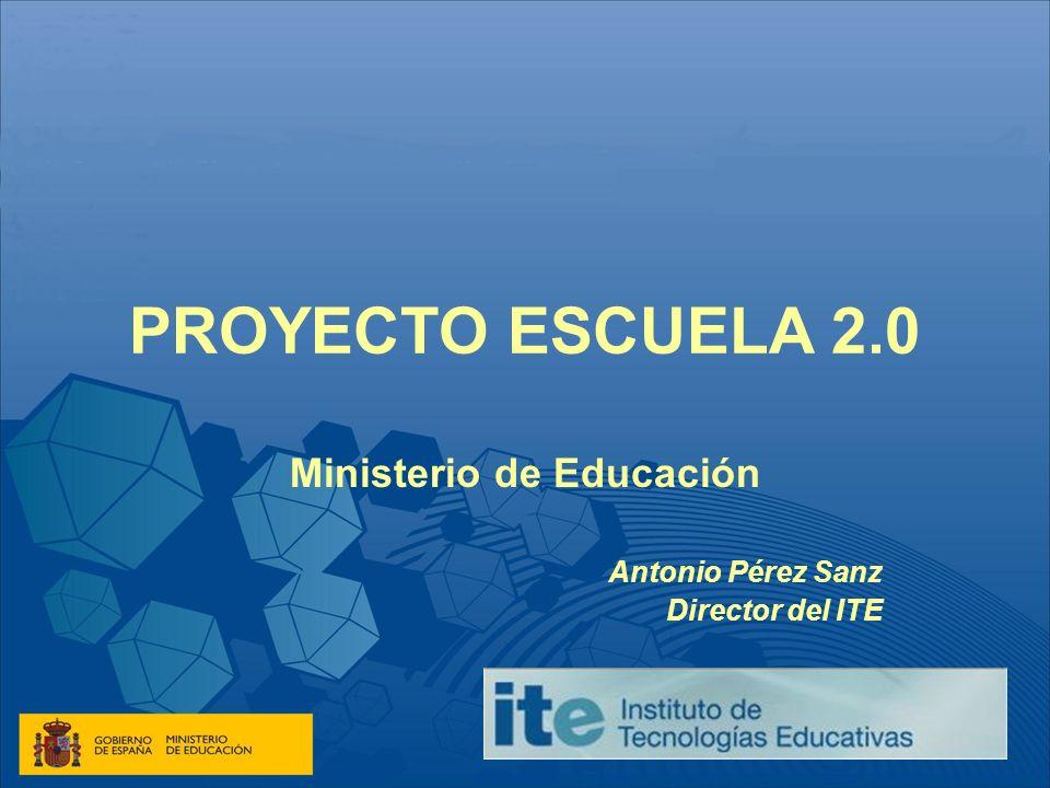 Ministerio de Educación Antonio Pérez Sanz Director del ITE