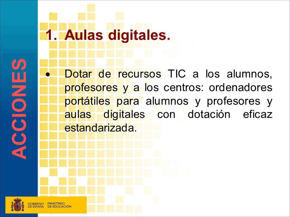 ACCIONES Aulas digitales.