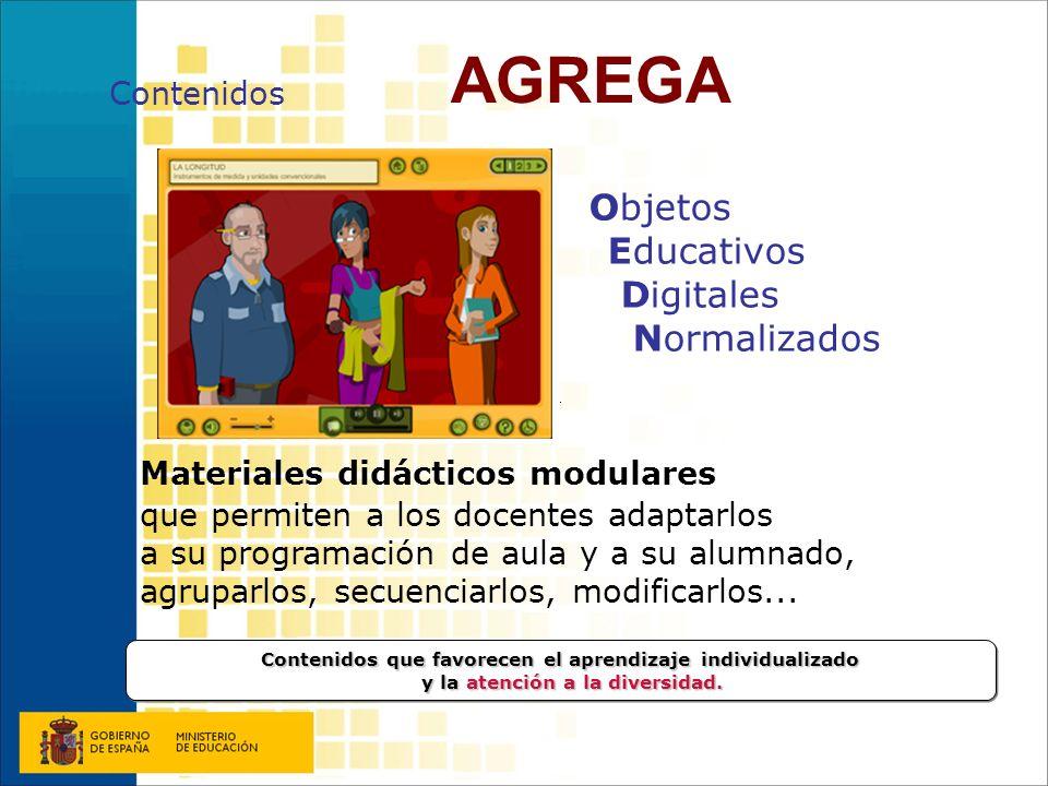 AGREGA Contenidos. Objetos Educativos Digitales Normalizados.