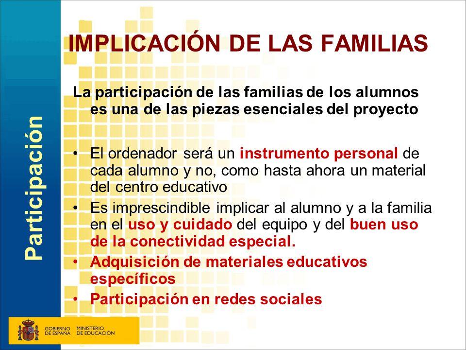IMPLICACIÓN DE LAS FAMILIAS