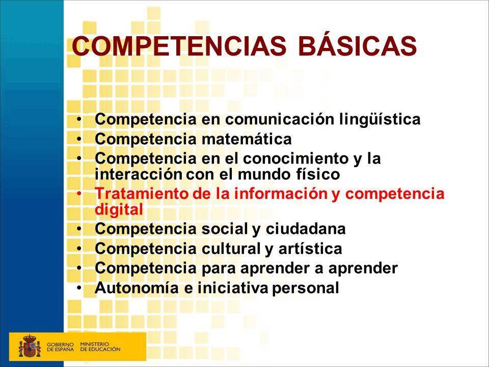 COMPETENCIAS BÁSICAS Competencia en comunicación lingüística