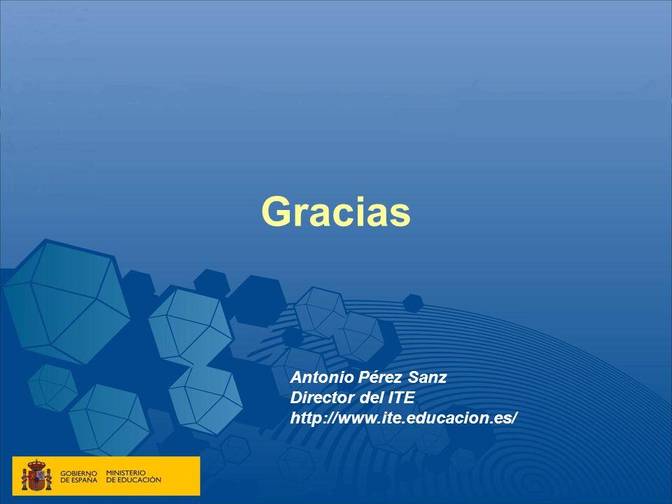 Gracias Antonio Pérez Sanz Director del ITE