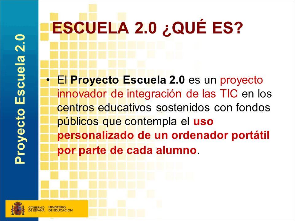 ESCUELA 2.0 ¿QUÉ ES Proyecto Escuela 2.0