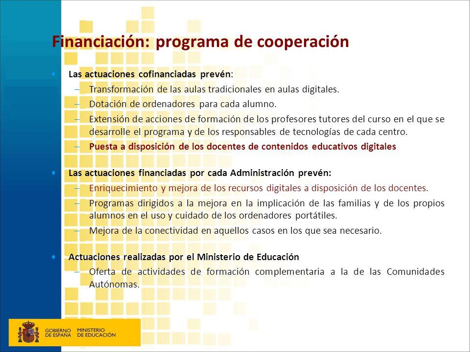 Financiación: programa de cooperación