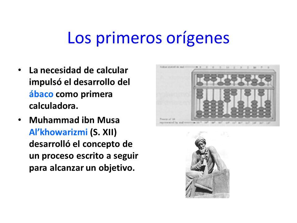 Los primeros orígenes La necesidad de calcular impulsó el desarrollo del ábaco como primera calculadora.