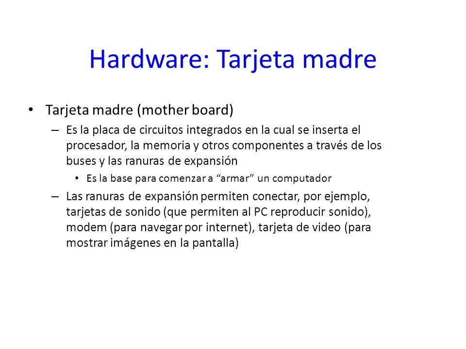 Hardware: Tarjeta madre