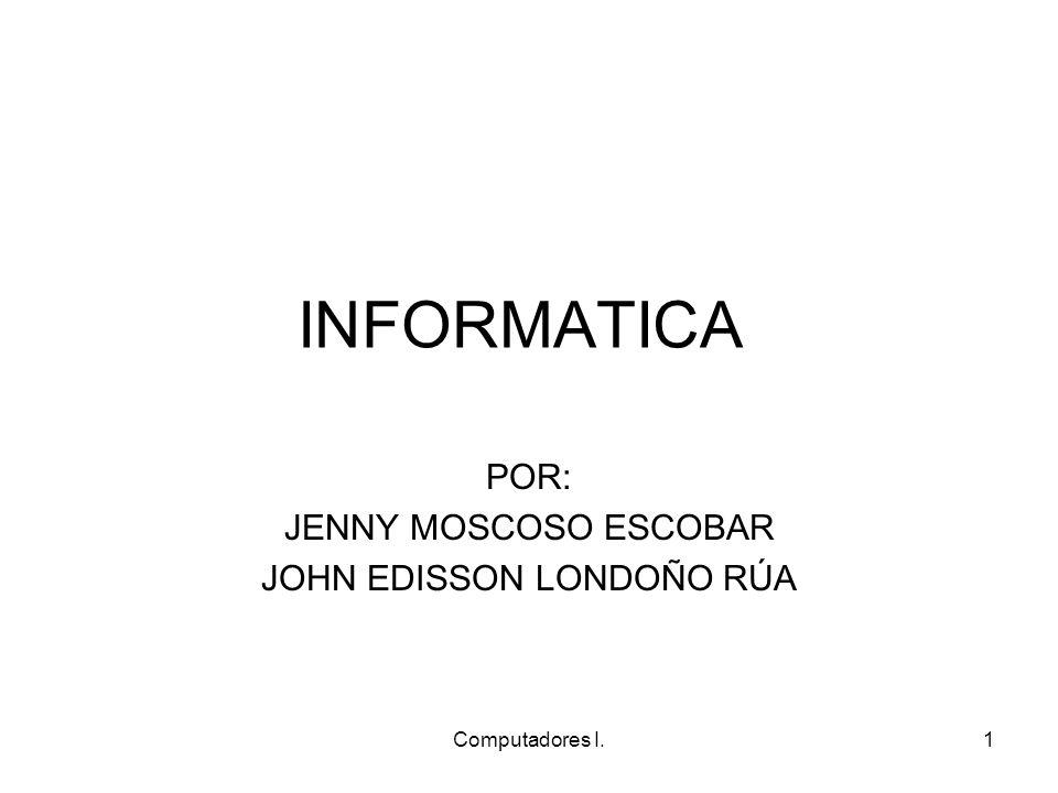POR: JENNY MOSCOSO ESCOBAR JOHN EDISSON LONDOÑO RÚA