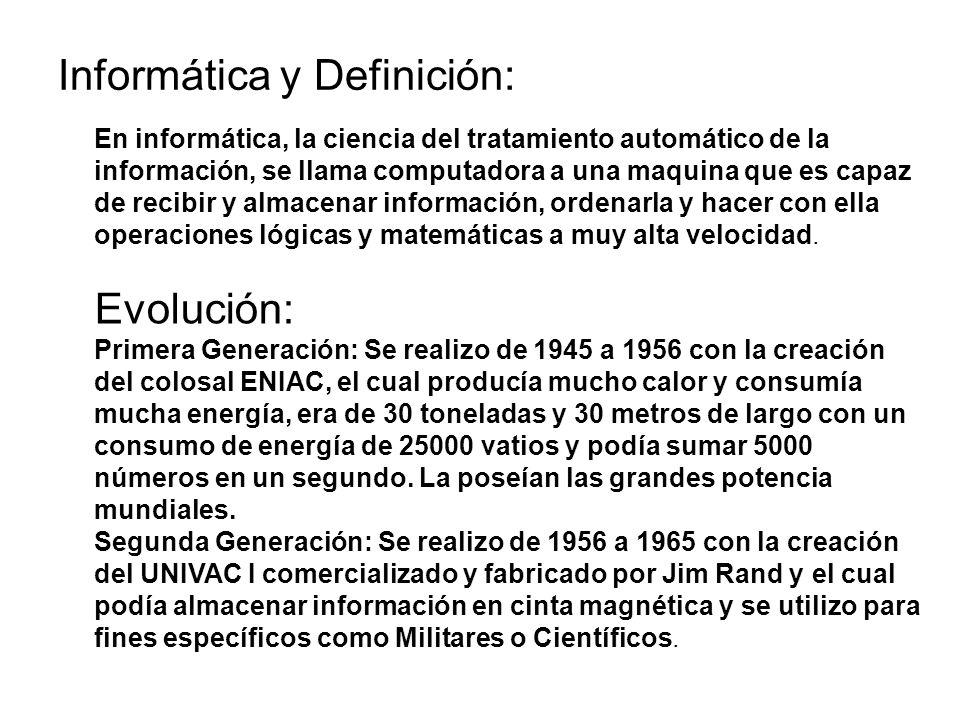 Informática y Definición: