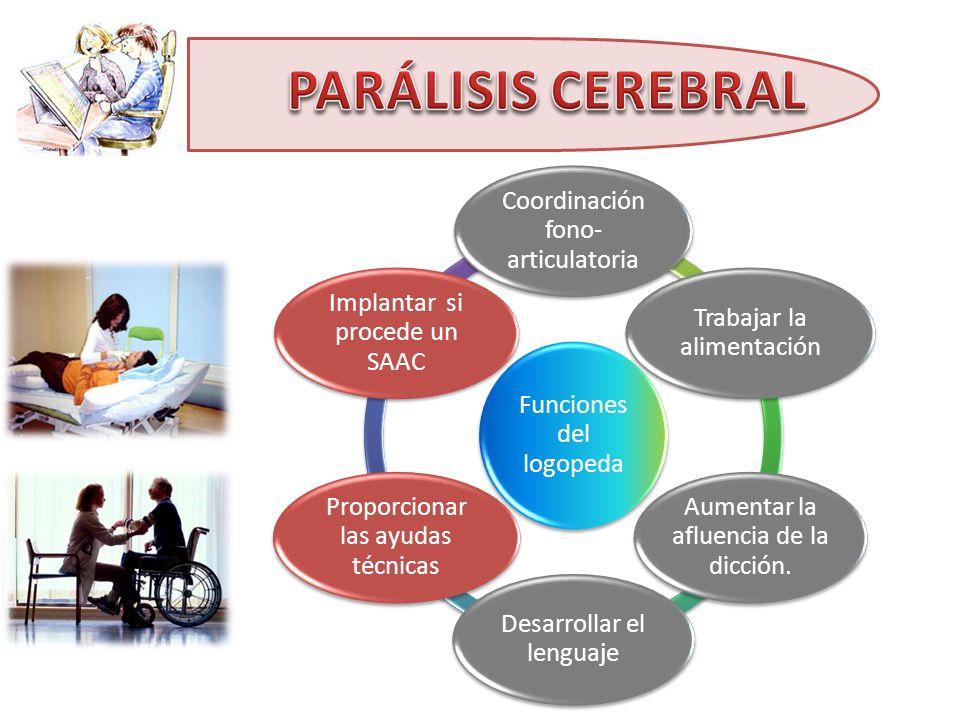 PARÁLISIS CEREBRAL Funciones del logopeda