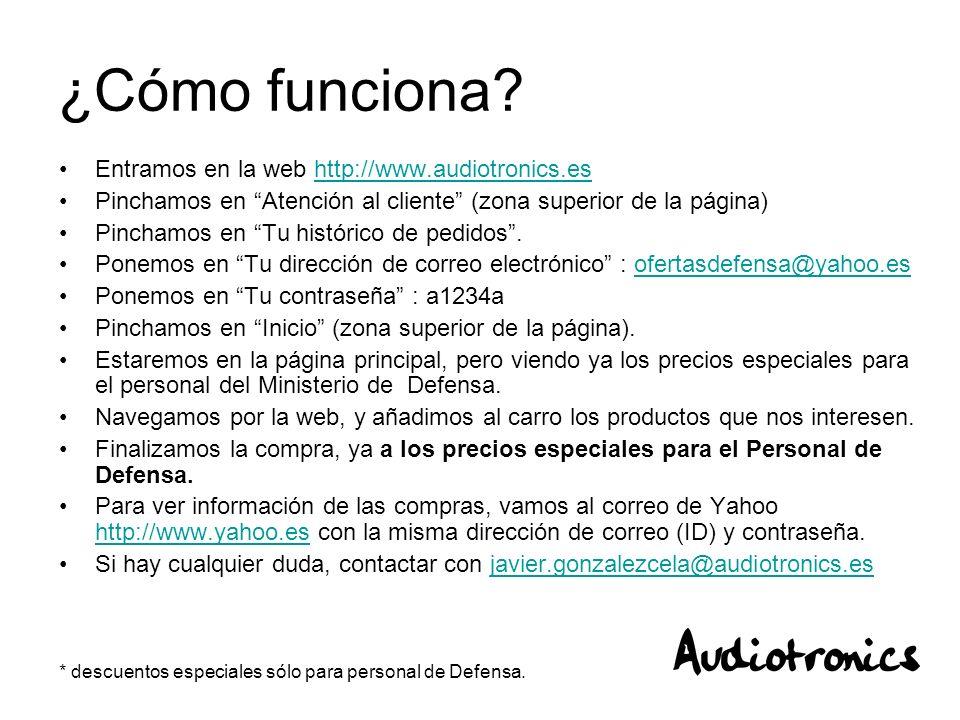 ¿Cómo funciona Entramos en la web http://www.audiotronics.es