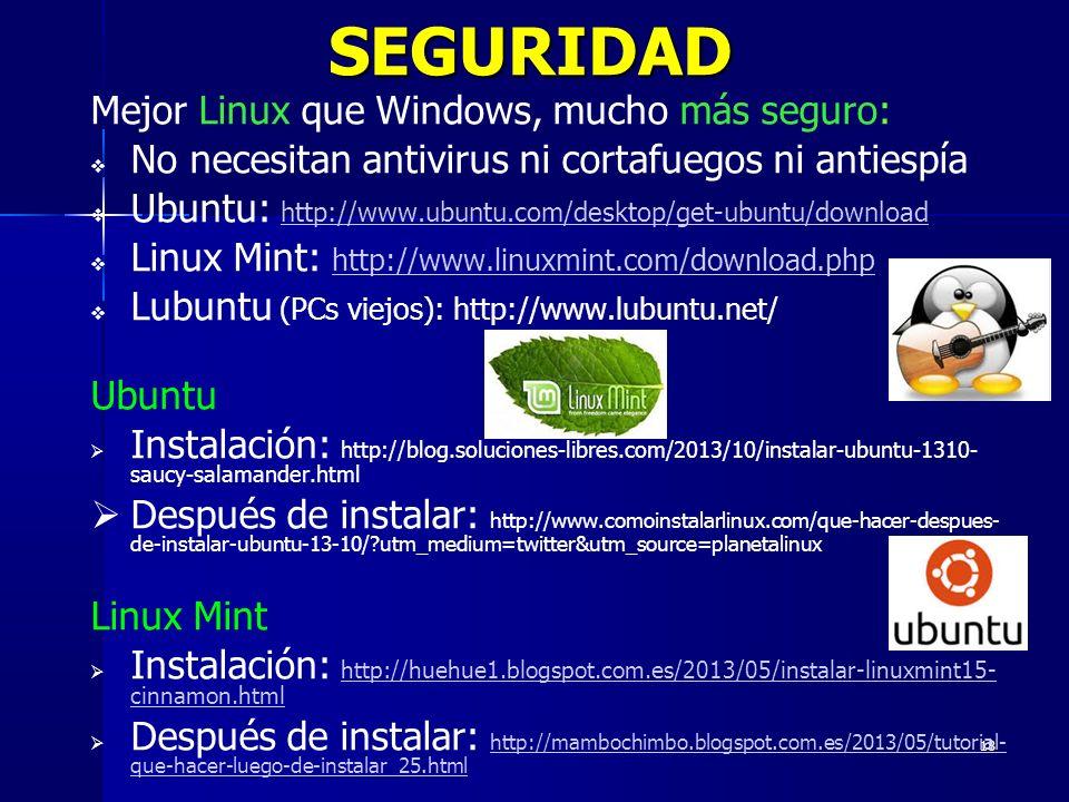 SEGURIDAD Mejor Linux que Windows, mucho más seguro: