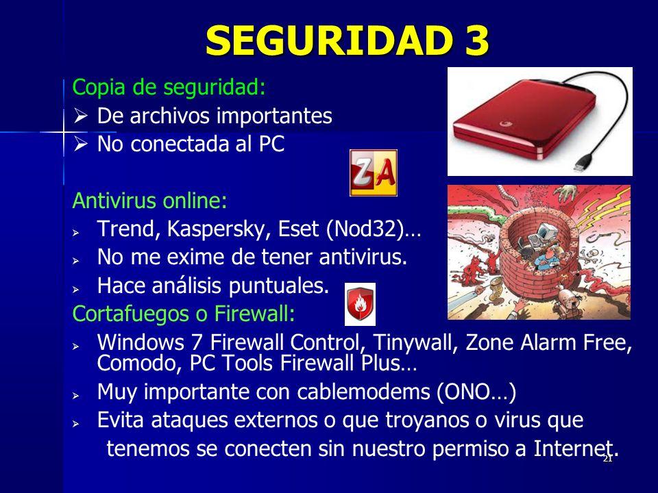 SEGURIDAD 3 Copia de seguridad: De archivos importantes