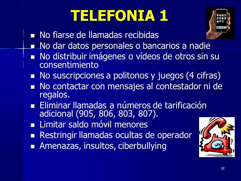 TELEFONIA 1 No fiarse de llamadas recibidas