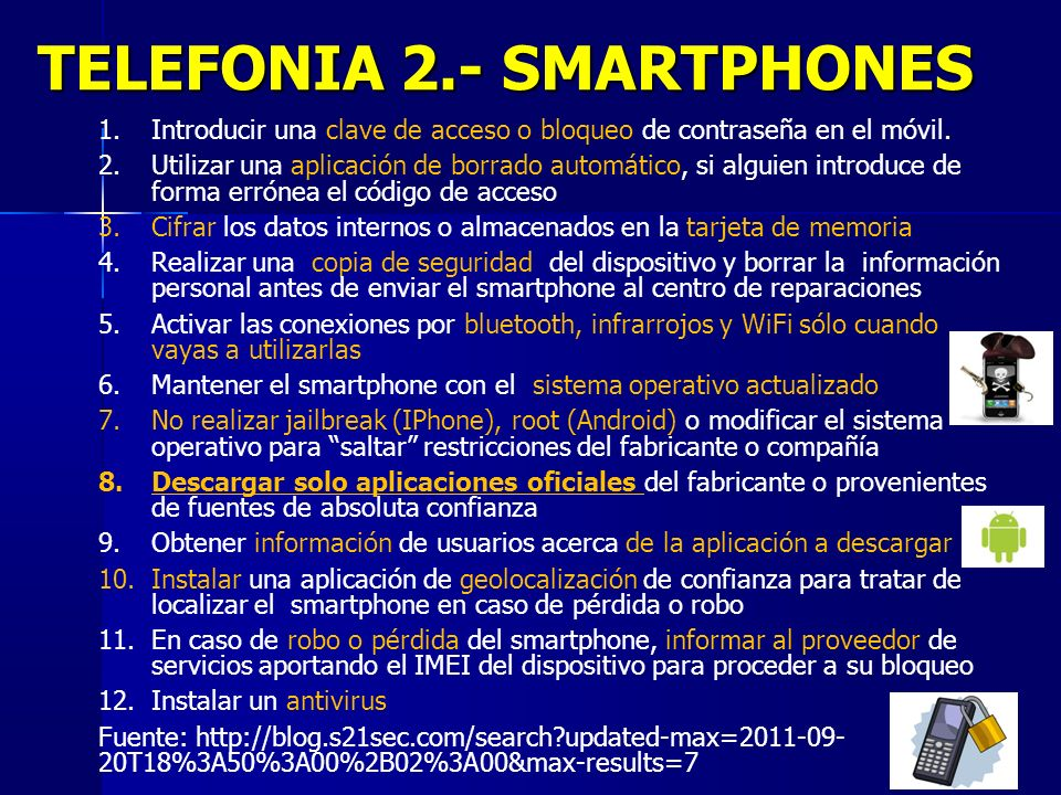 TELEFONIA 2.- SMARTPHONES