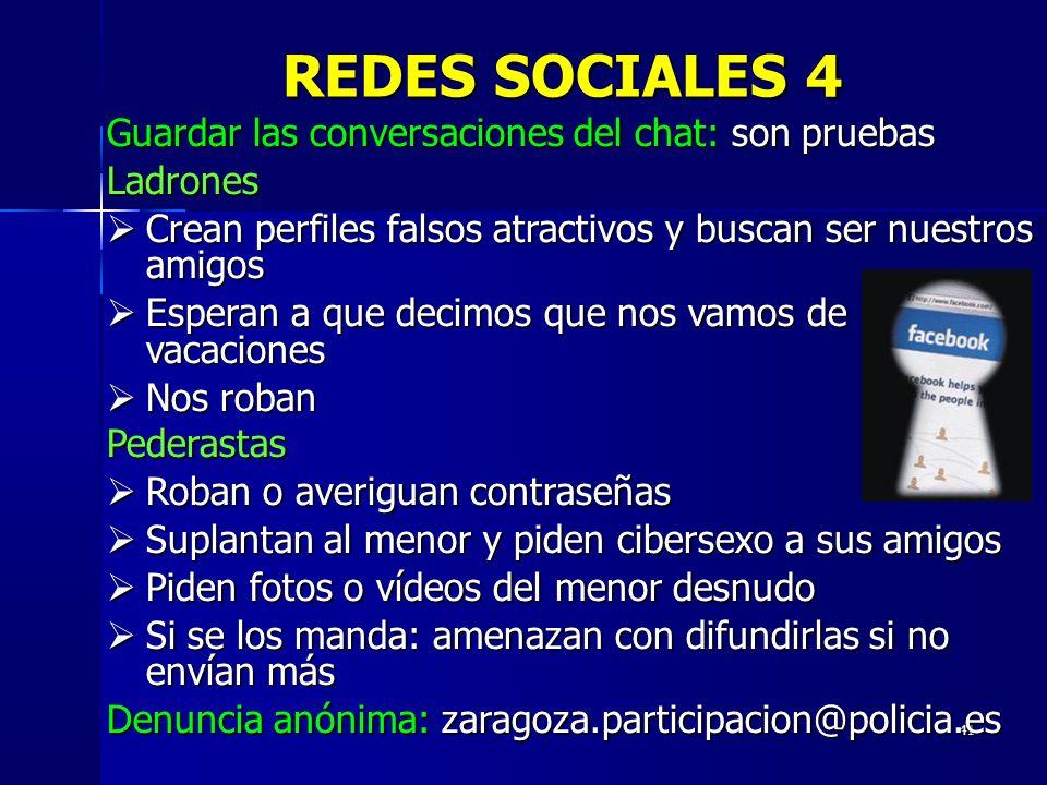 REDES SOCIALES 4 Guardar las conversaciones del chat: son pruebas