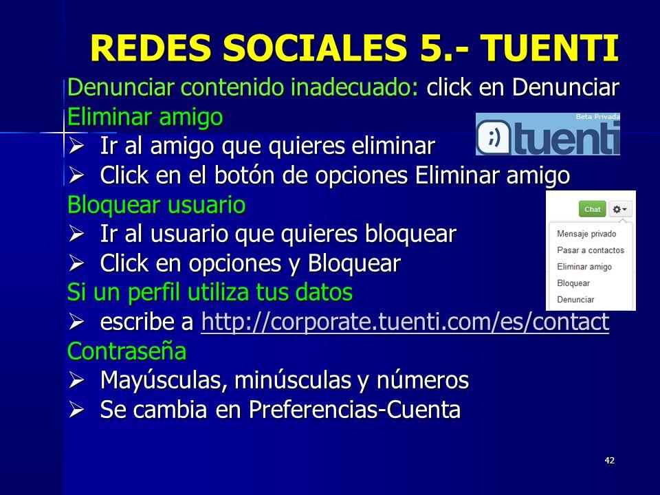 REDES SOCIALES 5.- TUENTI