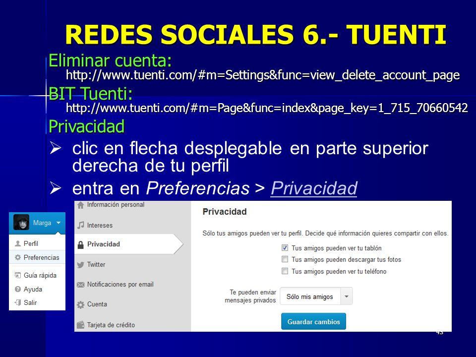 REDES SOCIALES 6.- TUENTI