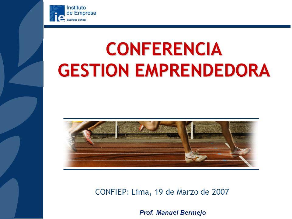 CONFERENCIA GESTION EMPRENDEDORA