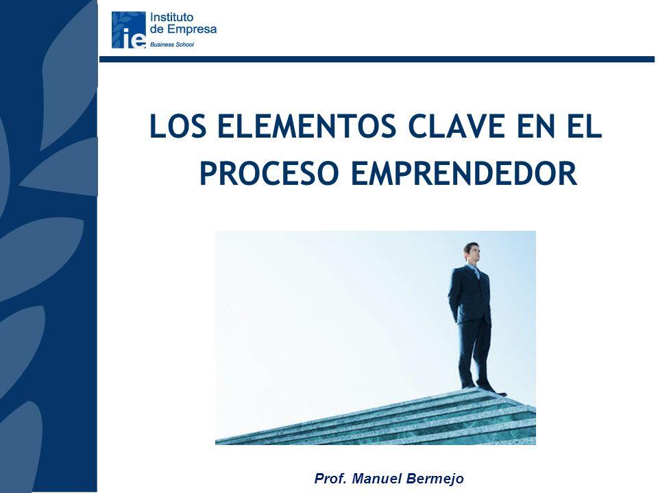 LOS ELEMENTOS CLAVE EN EL PROCESO EMPRENDEDOR