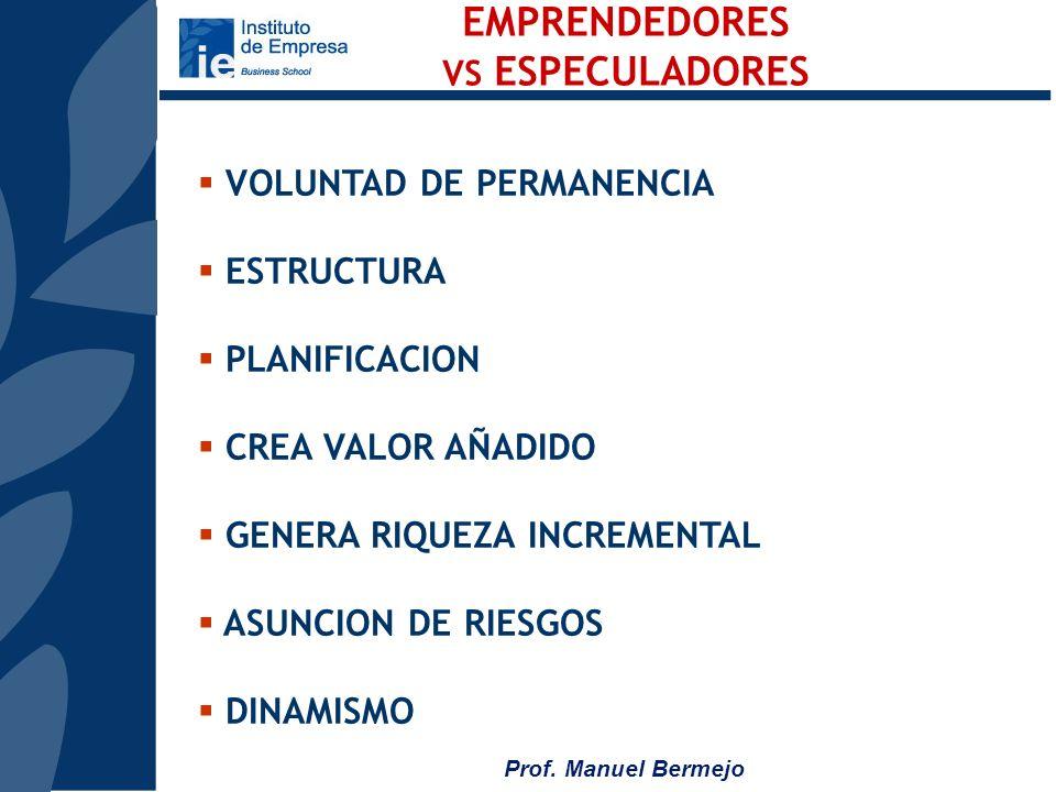EMPRENDEDORES VOLUNTAD DE PERMANENCIA ESTRUCTURA PLANIFICACION