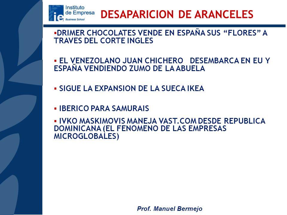 DESAPARICION DE ARANCELES