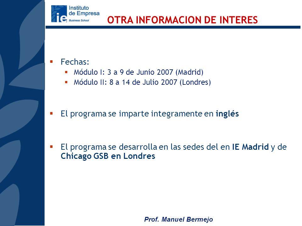 OTRA INFORMACION DE INTERES