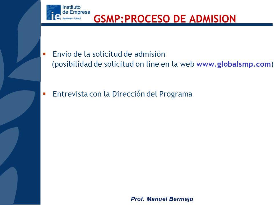 GSMP:PROCESO DE ADMISION