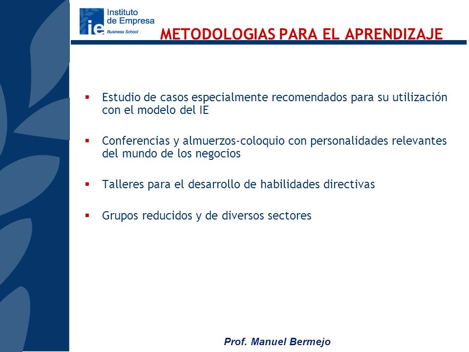 METODOLOGIAS PARA EL APRENDIZAJE