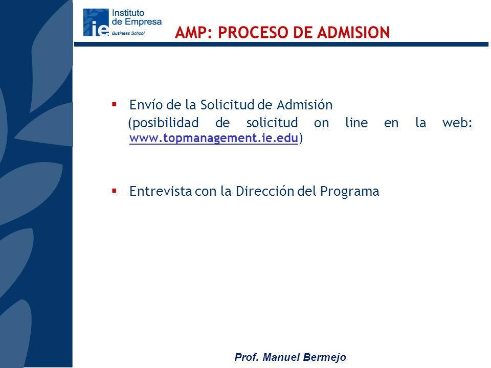 AMP: PROCESO DE ADMISION