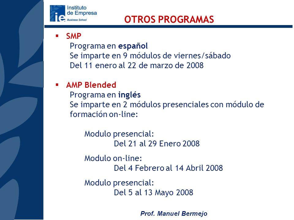 OTROS PROGRAMAS SMP Programa en español