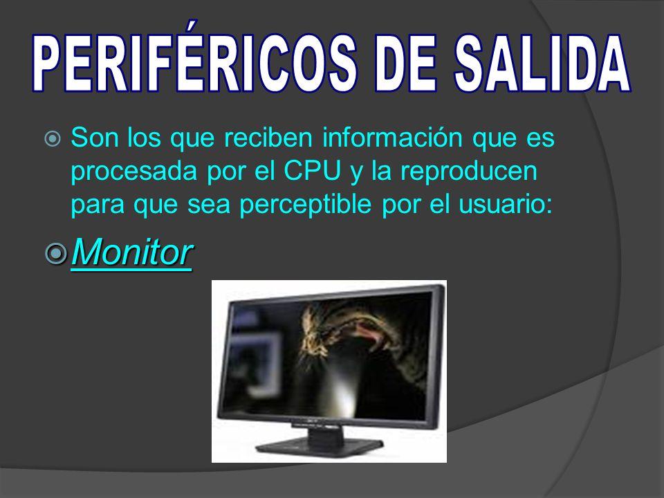Monitor PERIFÉRICOS DE SALIDA