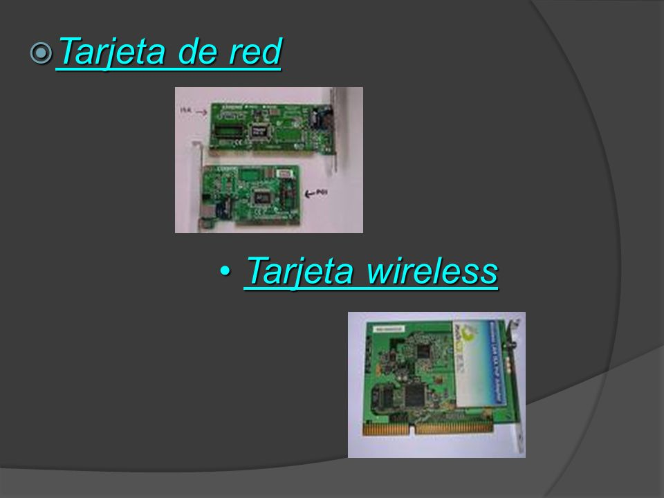Tarjeta de red Tarjeta wireless