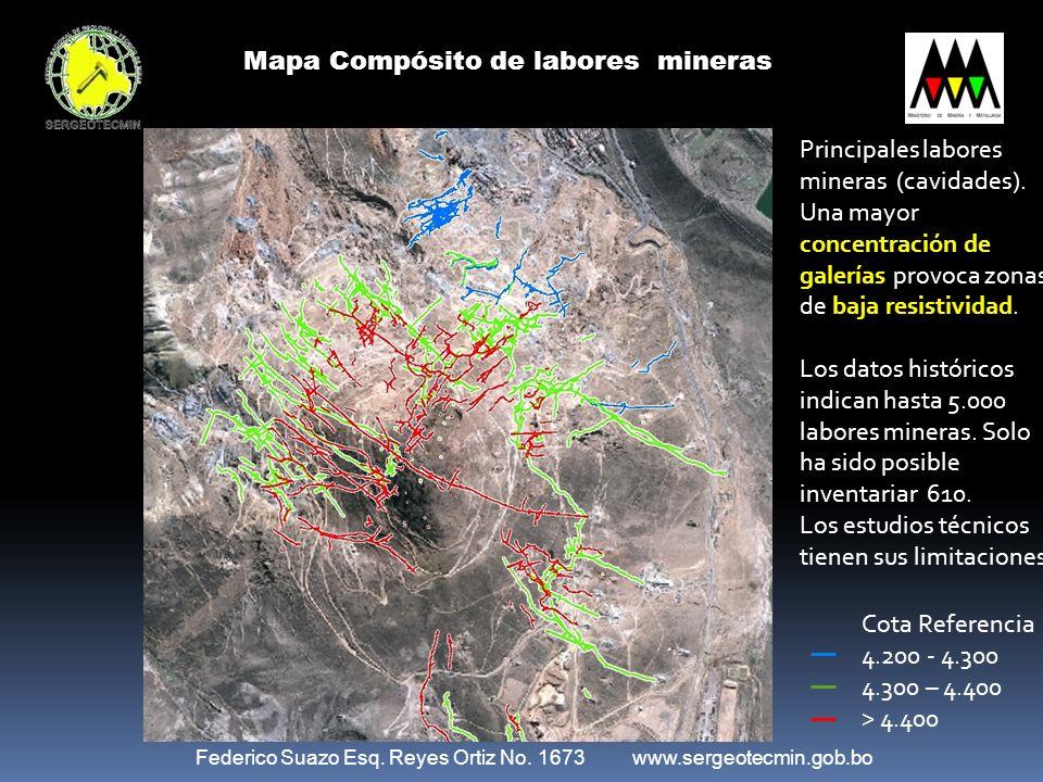 Mapa Compósito de labores mineras