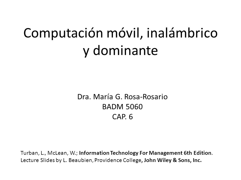 Computación móvil, inalámbrico y dominante