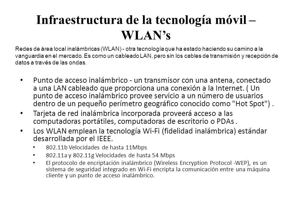 Infraestructura de la tecnología móvil – WLAN's